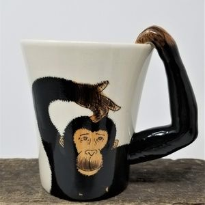 Monkey Hand Painted Coffee Cup Mug Pier 1 Imports